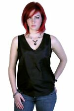 Black Crinkle Silk Tank Top, by Royal Silk - S(36)