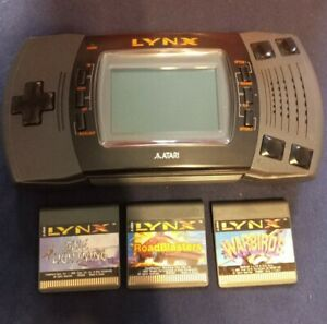 Vintage Atari Lynx System And Game Lot Pre-owned