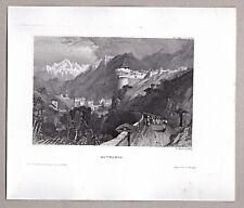 Rovereto, Roveredo, Trentin. - Ansicht mit Castel - Stich, Stahlstich 1850