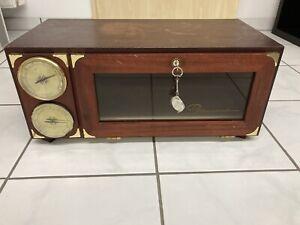 HUMIDOR Dannemann Hygrometer Thermometer Abschließbar