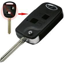 2 Button Remote Key Fob Case For Toyota Camry Corolla Prado Tarago RAV4 TOY43