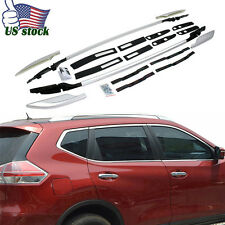 Top Roof Rack Decoration Rails Side Bars Trim For Nissan Rogue X-trail 2014-2017