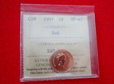 1997 Canada Specimen 1-cent  ICCS SP-67 Red