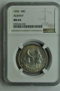1936 -  Albany Commemorative Half Dollar - NGC MS65