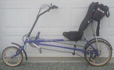 Rans Wave Recumbent Bike Bicycle - Road Bike - Blue