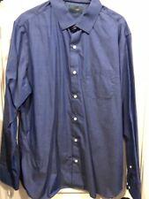Stitch Fix Fairline Mens Solid Blue XL Button Down Shirt