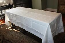 "120"" x 63"" Banquet Tablecloth White IRISH LINEN Princeton Club NY New York Long"
