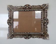 Bilderrahmen Weiß mit Glas Rechteckig Barock Rahmen Antik 44x38 Fotorahmen
