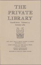 Grey Walls Press. Cuala Press. Joseph Zaehnsdorf  Private Library E3.202