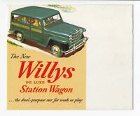 1951 Willys Foldout Station Wagon  DeLuxe Brochure