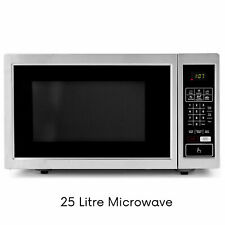 GENUINE 25L MICROWAVE 10 Power Levels Auto Cooking Child Safety Lock FREE Ship