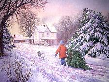 Hallmark Happy Holiday Christmas Cards & Envelope Vintage Set Of 3 Child & Dog