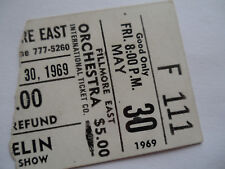 LED ZEPPELIN__1969__Original CONCERT TICKET STUB__Fillmore East, NYC__EX+