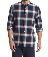 J. Crew Men's 100% Cotton Shirt, Sz Large, Plaid Slim Fit, Long Sleeve, NWT