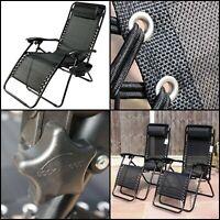 2X Zero Gravity Chairs Beach Holder Outdoor Chair Camping Folding Sun Recliner