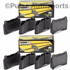 Hawk Ceramic Brake Pads (Front & Rear Set) For 10 - 16 Chevy Camaro 3.6 LT LS