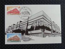 FRANCE CONSEIL EUROPE MK 1977 EUROPARAT MAXIMUMKARTE CARTE MAXIMUM CARD MC c696