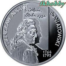 Poland 2005 silver 10 zl S A Poniatowski popiersie