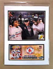 MARTINEZ, SCHILLING, ORTIZ, 2004 RED SOX 12X16 DOUBLE MATTED PHOTO & EVENT COVER