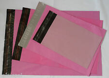 50 ALL PINK MIX SIZES PLASTIC POSTAL MAIL  POSTAGE BAGS