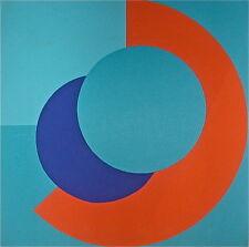 L. Olivieri Collage art abstrait géométrique Paris 1970 p 539