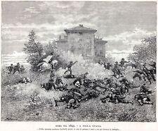 1849: REPUBBLICA ROMANA: ROMA: GARIBALDI DIFENDE VILLA SPADA. Risorgimento.1892