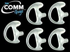 5 CLEAR FLEXIBLE SEMI CUSTOM OPEN EAR INSERTS - SOFT RUBBER GEL MOLDED EARPIECES