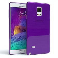 Schutz Hülle für Samsung Galaxy Note 4 Brushed Cover Handy Case Lila