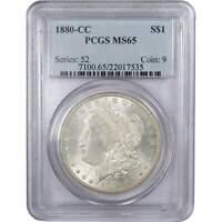 1880 CC $1 Morgan Silver Dollar US Coin MS 65 PCGS