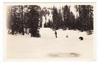 c1950 RPPC NORDEN CA SKIIERS CROSS COUNTRY SKIING SNOW OLD POSTCARD CALIFORNIA