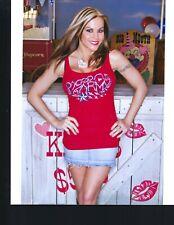 TNA KNOCKOUT SUPERSTAR VELVET SKY 8X10 PHOTO W/ BORDERS