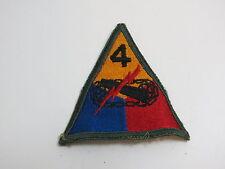 WWII ERA US ARMY TANK PATCH / 4TH TANK BATTALION