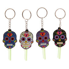 SUGAR CANDY SKULL KEY COVER KEYRING DAY OF THE DEAD / Mexican Novelty Gift idea