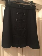 Black '1960s style' short/mini skirt by Diane Von Furstenberg Size UK 8