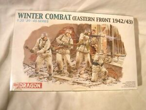 1/35 Dragon 4 German Soldiers Winter Combat Eastern Front 1942/43 # 6154