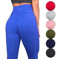 New Ladies Butt Lift Yoga Pants Sexy Hip Push Up Leggings High Waist Fitness CA