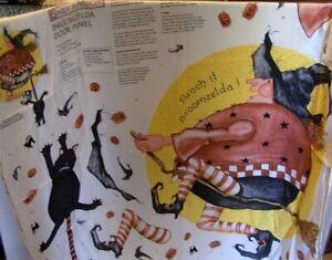 Daisy Kingdom Door Panel Broomzelda Witch Halloween Sew Easy 1997 Black Cat Uncu