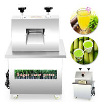110V 280kg/h Electric Sugar Cane Ginger Press Juicer Desktop Cane Machine 370W