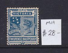 Victoria 2 1/2d Blue Qv Mh