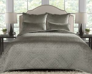 French Velvet Stitch Design Bed Linen in Taupe Order a Set or Individual