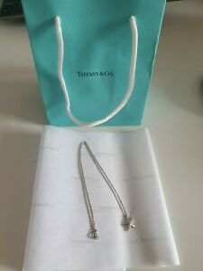 Genuine Tiffany & Co  Sterling Silver Elsa Peretti  Starfish Necklace with bag