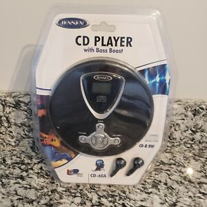 NEW Jensen CD 60A  Player Personal Portable Compact Disc With Bass Boost  Sealed