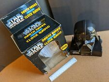 Star Wars Darth Vader Clock Radio Vintage 1995 with Box Works, Tested