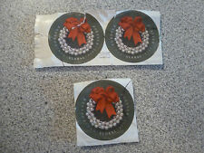 USED Lot of 3 Global Forever Wreath with Silver Bells IMPERFORATE 2014 #4936