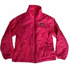 patagonia Girls Quilted Lightweight Casual Pink Full Zip Jacket Size Xsmall