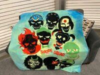 Suicide Squad Dead Shot Harley Quinn Movie DC Comics fleece blanket  throw