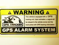Warning GPS Tracking System, Reflective Vinyl Decal Sticker, Car Anti-Theft