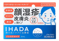 Shiseido IHADA Priskleed D 14 mL, Non-Steroidal Face Care Cream from Japan