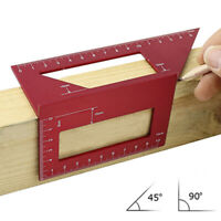 Aluminium 45° / 90° Winkellineal Lineal Holzbearbeitung Scriber Angle Gauge