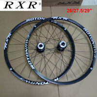 RXR MTB Bike Wheelset Front Rear QR/Thru Axle Disc Brake Wheel Rim 26/27.5/29""